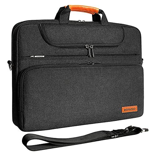 """DOMISO 13-13,3 Zoll Wasserdicht Laptop Tasche Aktentasche Schultertasche Notebooktasche für 13.3\"""" Dell XPS 13 Inspiron 13 / Acer Swift 1 / Surface Book/Apple/Lenovo/HP/ASUS, Schwarz"""