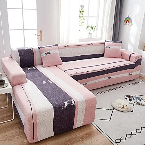 ASCV Einfarbige Universal Stretch Sofabezug für Wohnzimmer, Sofabezug Home Living Room Schutzhülle A3 4-Sitzer