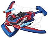 Spider-Man Web Shots Spiderbolt NERF Powered Blaster Toy, Fires Darts, Includes 3 Darts, for Children Aged 5 and Up