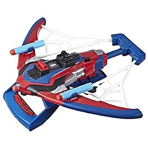 Hasbro Spider-Man - Web Shots (Giocattolo Blaster Spiderbolt con Tecnologia Nerf, Include 3 dardi)
