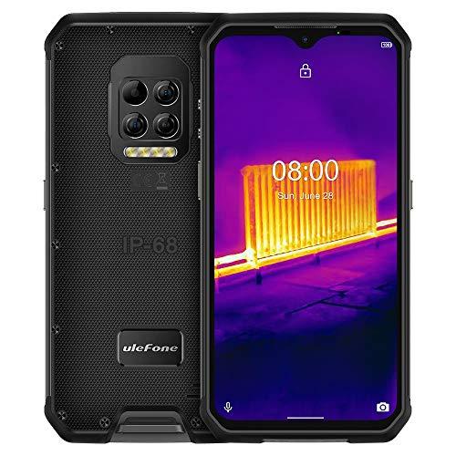 Ulefone Armor 9 (2020) 4G Smartphone ohne Vertrag, Helio P90 Octa Core 8GB RAM + 128GB ROM, 64MP Wärmebildkamera, 6,3-Zoll-FHD+, Android 10 IP68 Wasserdicht Handy, 6600 mAh-Akku, NFC