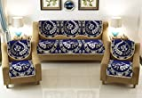 Vram Cotton Heavy Fabric 500 TC Floral Design 5 Seater Sofa Cover Use