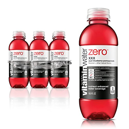 vitaminwater zero xxx, electrolyte enhanced water w/ vitamins, açai-blueberry-pomegranate drinks, 16.9 fl oz, 6 Pack
