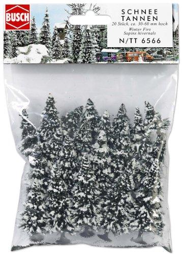 Busch 6566 - 20 Schneetannen N/TT