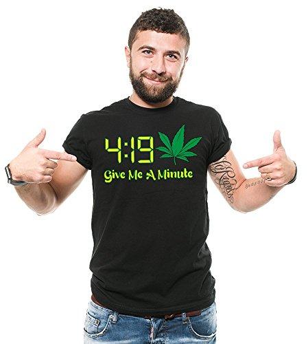 Silk Road Tees Camiseta Divertida de los Hombres de Cannabis 4 20 Camisa Divertida de la Marihuana Camisa Divertida THC Camiseta