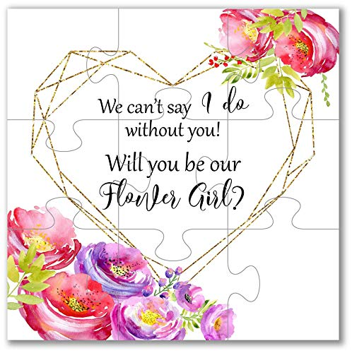 Will You Be Our Flower Girl Puzzle Flower Girl Gift