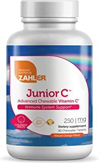 Zahler Junior C, Chewable Vitamin C, Great Tasting Vitamin C for Kids, Kids Vitamin C Immune System Support...