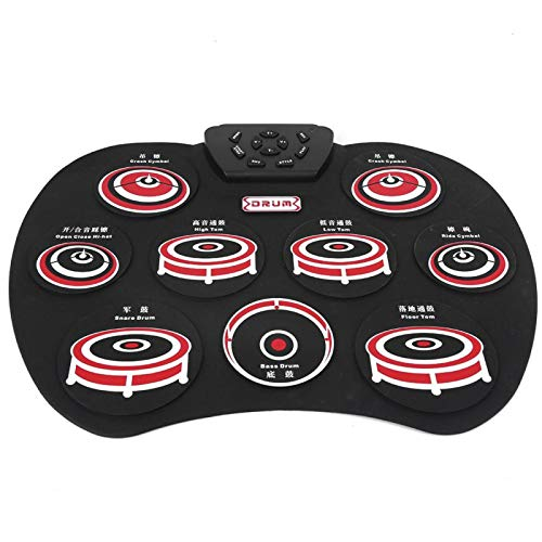 Portable Silicon Electronic Drum Pad, Foldable Drum Electronic, Multifunction Roll Up Drum Practice Pad, Electronic Gifts, for Kids Beginner