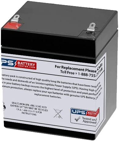 Solex SB1240 12V 4Ah Alarm Battery Compatible Replacement (Higher Capacity 5Ah, Longer Run time on Battery Power)