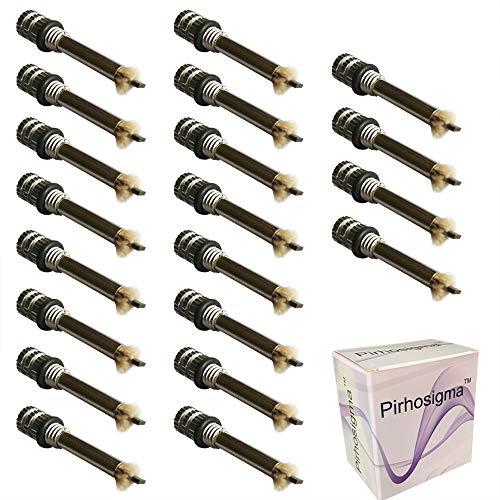 Pirhosigma 20 x Replacement Wicks for Hiking Emergency Survival Camping Fire Starter Flint Metal Match Lighter