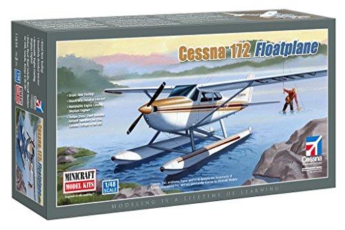 Minicraft Models Dempsey Designs Morceau modèles 1 : 48 Kit Échelle modèle Cessna 172 hydravion à flotteurs