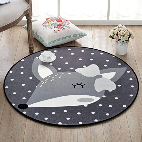 XIN tapijt rond tapijt cartoon dier tapijt, slaapkamer woonkamer salontafel mand mand deken kamer computer stoel mat