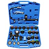 JoyFans Coolant Pressure Tester Kit, Cooling System Coolant Vacuum Refill Kit Automotive Tools Works on Radiator Leak Test & Coolant Fill Purge Service for Cars Trucks Airlift
