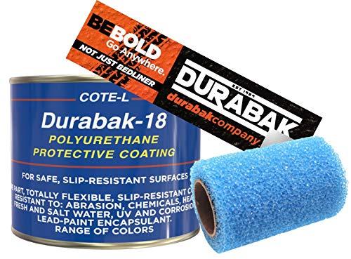 Durabak Orange Textured, Outdoor, UV Resistant, Truck Bed Liner Quart KIT - Roll On Coating   DIY Custom Coat for Bedliner and Undercoating, Auto Body, Automotive Rust Proofing, Boat Repair