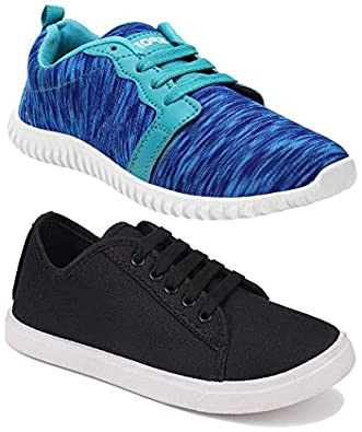 Shoefly Women Combo Pack of 2 Multicolour Latest Collection Loafers Sneakers Shoes (Combo-(2)-1162-5001)
