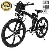 Oppikle Vélo Electrique 26' E-Bike - VTT Pliant 36V 250W Batterie au Lithium de Grande Capacité - Ville léger Vélo de avec moyeu 21 Vitesses (Upgrade Noir)