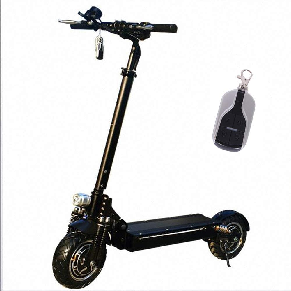 J&LILI Scooter Eléctrico: Scooter Eléctrico Plegable con Pantalla LCD, para Adolescentes Y Adultos, 60V 2400W