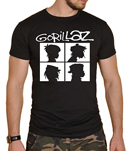Gorillaz Herren T-Shirt Schwarz schwarz Gr. L, schwarz
