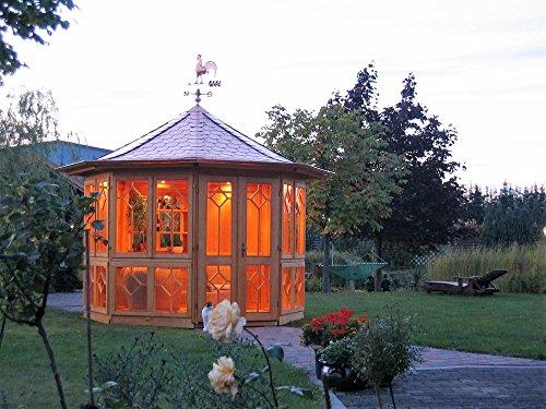 Riwo Gartenpavillon Pavillon - 141 Bellevue geschlossen 8-Eck 3,5m