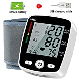 Wrist Blood Pressure Monitor, Blood Pressure Cuff with USB Charging, Automatic Digital Home BP Monitor Cuff - Accurate, Adjustable Cuff, Intelligent Voice - Irregular Heartbeat & Hypertension Detector