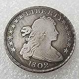 DDTing 1802 Antike Liberty One Dollar Münze - Great American Coin - US Old Coins - USA Unzirkulierte Gedenkmünze - Entdecken Sie Geschichte der Münzen goodService -