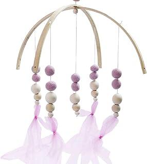 EASYBUY Hochet en bois à suspendre pour nouveau-né - Jouet mobile pour berceau - Perles en bois - Carillon à vent - Décora...