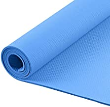 SIVYATI Yoga Mat 7 Colours (6mm Thickness) - Premium Anti-Skid Yoga & Exercise Mat for Men and Women with Carrying Strap (...