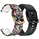 YSSNH 20mm Watch Bands Quick Release Compatible with Samsung Galaxy Watch3 41mm Bands Silicone Replacement for Galaxy Watch 42mm Active 2 40mm/44mm Gear S2(20mm)