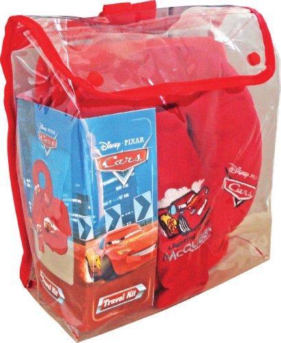 Disney Cars Set de voyage pour enfant (Rouge avec motif Flash McQueen)