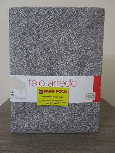Pago Poco Mehrzweck-Tagesdecke, 100 % Baumwolle, Maße: 260 x 260 cm. Maculiertes Design, Farbe: Grau.
