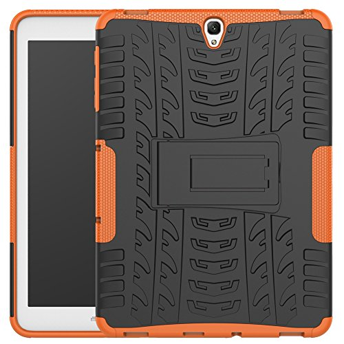 JARNING Back Cover Tablet Case for Samsung Galaxy Tab S3 9.7/T820,Tough Heavy Duty Shock Proof Dual Layer with Kickstand Protective Hard Armor Case (Orange)