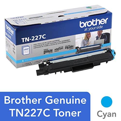 Brother Genuine TN227C, High Yield Toner Cartridge,  Replacement Cyan Toner, Page Yield Up to 2,300 Pages, TN227, Amazon Dash Replenishment Cartridge