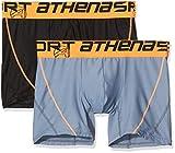 ATHENA - Lot de 2 Boxers Homme Air Performance - Taille : 7 - Couleur : Noir-Anthracite