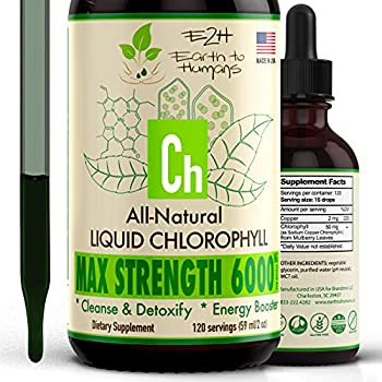 Chlorophyll Liquid Drops - 100% All-Natural Concentrate – Energy Booster Digestion and Immune System Supports Internal Deodorant - Altitude Sickness - 120 Servings