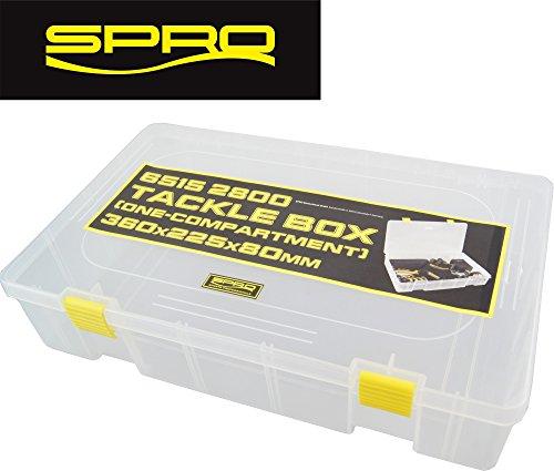 Spro Tackle Box 36 x 22,5 x 8 cm – Tackle Box pour Angel Accessoires, Angel Boîte pour Angel Pince, Lampe de Poche & Accessoires, boîte de pêche
