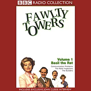 Fawlty Towers, Volume 1     Basil the Rat              By:                                                                                                                                 John Cleese,                                                                                        Connie Booth                               Narrated by:                                                                                                                                 John Cleese,                                                                                        Prunella Scales,                                                                                        Andrew Sachs,                   and others                 Length: 2 hrs and 4 mins     9 ratings     Overall 4.9