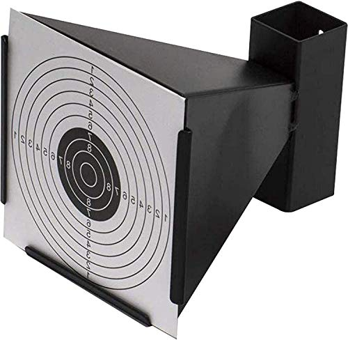 NEEZ Parabalas de Metal para dianas de 14x14cm, Soporte de dianas para, Pistolas de Aire comprimido (Embudo Objetivo)