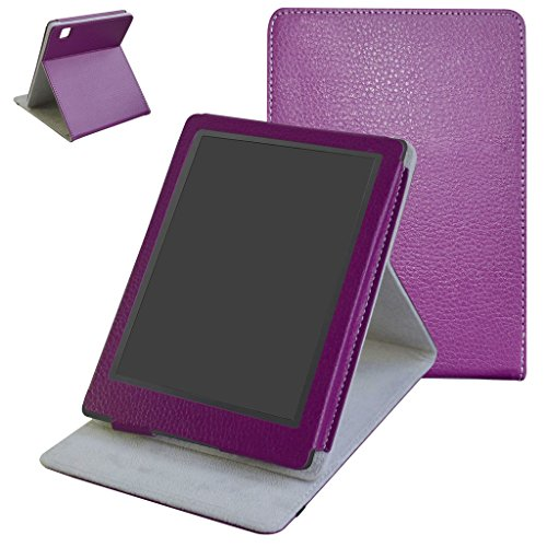 Kobo Aura H20 2nd Edition 2017 Case,Mama Mouth Custodia in pelle Con Supporti Stand per 6.8' Kobo Aura H20 2nd Edition 2017 Release,Viola