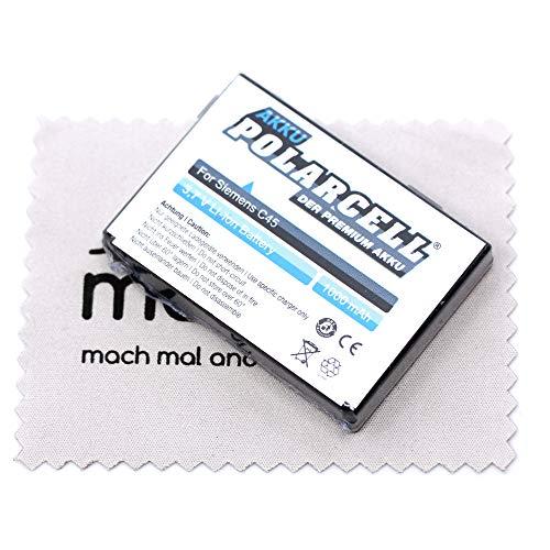 Ersatz Akku passend für Siemens A50 C45 M50 MT50 (Ersetzt Originalakku V30145-K1310-X184 X188 X189 X191 X210) Polarcell mit mungoo Bildschirmputztuch