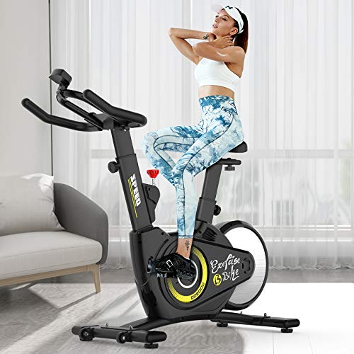 Pooboo Indoor Cycling Bike, Magnetic Resistance Stationary Bike, Belt Drive Exercise Bike with Heavy-Duty Rear Flywheel for Home GYM (All-Inclusive Design)