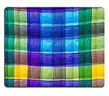 MSD caucho Natural alfombrilla para ratón imagen ID: 35042285background Close Up de Beautiful azul verde hojas de papel corrugado