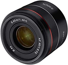 ROKINON 45mm F1.8 Full Frame Auto Focus Compact Lens for Sony E-Mount photo