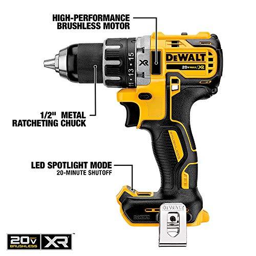 DEWALT 20V MAX XR Cordless Drill Combo Kit, Brushless, 2-Tool (DCK283D2)