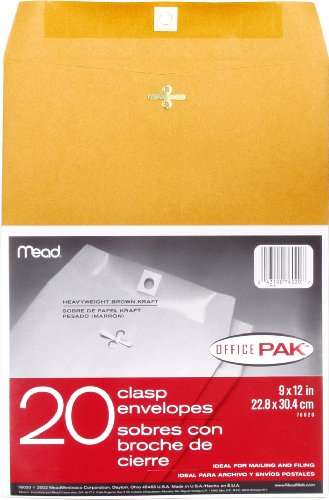 Mead Clasp Envelopes, 9