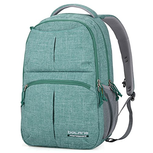 BOLANG College Backpack for Men Water Resistant Travel Backpack Women Laptop Backpacks Fits 16 inch Laptop Notebook 8459 (Green)