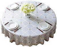 ディナーテーブルクロス ディナーテーブルクロス、ヨーロッパの綿とリネンの小さな新鮮なディナーテーブルクロスディナーテーブルクロスキッチンホーム、マルチサイズオプション ホリデーギフト (Color : A, Size : 220CM)
