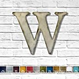 Metal Letter W - 8', 12', 16', 22', 30' or 35' inch tall - Handmade metal wall art - Choose your Patina Color,...
