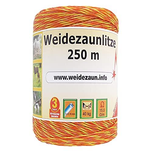 VOSS.farming Weidezaun Litze 250m, 3x0,16 NIRO, gelb-orange 1