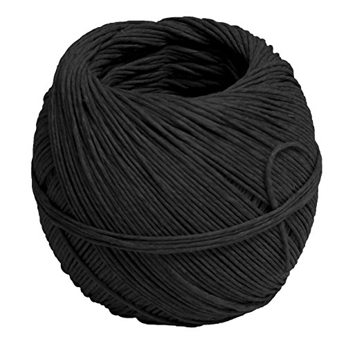"Pepperell Braiding HEMP14 Premium Quality Hippie Hemp Cord, 2.8"" Height, 2.9"" Width, 2.9"" Length, Black"