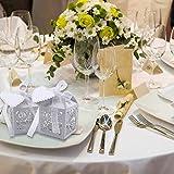 VGOODALL 100 Stück Hochzeit Gastgeschenke Süßigkeiten Kasten Gastgeschenke Schachtel Hochzeit Taufe Geschenkbox Kartonage Tischdeko Hochzeit Dekoration (Weiß) - 5